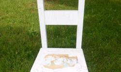 please see photo The chair had once been crackled ....excellent shape