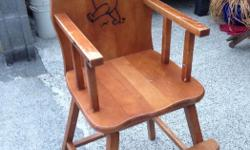 Vintage high chair real wood a little wear and tear but solid $40 OBO