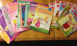 Various Olivia and Pinkalicious children's books: $1 each, or all for $10 - Olivia Measures Up (Level 1) - Olivia Goes to the library (Level 1) - Olivia Helps Mother Nature (Level 1) - Olivia Plays Soccer (Level 1) - Olivia Becomes a Vet (Level 1) -