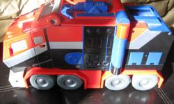 OPTIMUS PRIME Transformer Toy Can use as a vehicle & transforms into a laser gun Has lights & sounds & talks Takes 3 AA batteries (included) Son no longer plays with but really enjoyed this toy!! Good condition Can meet in west end of Ottawa (Kanata) or