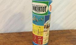 The original TINKERTOY set in original container Junior CIRCUS Both sets for ages 3 and up