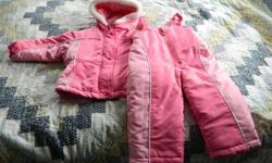 Like new Osh Kosh Girl's 2 piece snowsuit.  Size 2T.  Asking $15.00 obo.