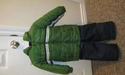 Good condition Oshkosh Winter Jacket and snowpants. Jacket is 5T and snowpants are 4T, The jacket fits more like a 4T See photo