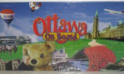 """A """"new"""" sealed and unused game, based on the game Monopoly. It includes various destinations and services that you will know in Ottawa like the Science and Technology Museum, OC Transpo, Canadian Museum of Nature, Royal Bank Financial Group, the Ottawa"""