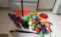 Outdoor Toy Set $60 - for the whole set, $77 - total for individually priced items. (I have more pictures, total of 13 pictures, but I could only upload 8, let me know if you want to see the other pictures.) $40 - T-Ball set, includes 2 foam bats, 2 foam