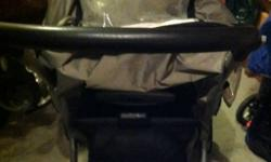 Fully equipped. Folds down comes with rain cover and a stand a ride for older child. Only thing is the brake is not working properly. I never have to use it too much. Therefore the price I am offering. Pickup north edm. This ad was posted with the Kijiji