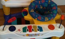 The centre chair can also be removed for baby once pulling to stand as a walk through toy. Keys play music. This ad was posted with the Kijiji Classifieds app.