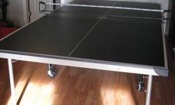 Aerotech ping pong table with net and rackets. Folds for storage. Only 2 years old. Paid $300. Asking $200 obo.