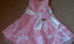 worn once, your daughter will look like a princess in this beautifully detailed party dress. great for Christmas, or birthday pics! no tag, but should fit 12-18 months. non-smoking, no pet home. p/u on inkster/main. pls see my other ads.