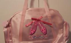 Lovely, sturdy pink Ballet Bag for the little dancer with satin finish inside/out and zippered side pockets. Dimensions: 18x11x5 inches Never used. Clean. Kept in Bin. Smoke and pet free home. Cross posted. First come.