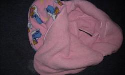 Pink Winnie The Pooh Car Seat Cover - perfect for keeping baby warm this winter. Green B.U.M. 3 month snow suit - with removable mitts and feet.   Please email me with what you are interested in. The more you choose the better the deal. Check out my other