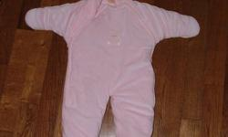 For Sale: Pink fleece snowsuit for a baby girl age 3-6 months. Keep you little princess nice and warm this winter with this great snowsuit. Asking $10.00. Contact Laura at 519 680 0835. Please check out my other ads.