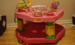 I have a pink Evenflow 1-2-3 Tea for Me exersaucer in excellent used condition. I would like to sell it for $40 or trade for a more gender neutral one. Cake toy was recalled but I have the replacement one from the company.