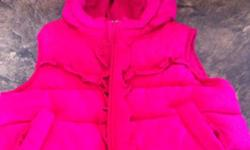 Pink Old Navy Vest with hood. Good Condition and very cute:-) This ad was posted with the Kijiji Classifieds app.