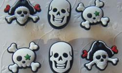 Set of 6 Pirate Magnets Paypal Payment also accepted