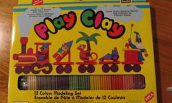 12 Color Modelling Set...Non-toxic.....ages 3 and up. Package has never been opened. Purchased for grandchildren to play with but rarely here as they live out of province.