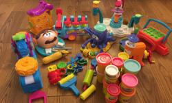 My children have grown up out of their play doh days. Sniff, sniff. Selling a variety of play doh toys and play doh. They might be something to consider for the cottage or if you need toys for your classroom or daycare. $50.00 takes it all.