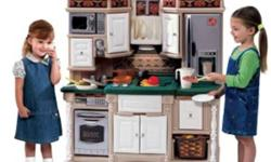 looking for play kitchen similar to the ones in pics... not necessarily like those. but must be one where 2 children can play, ages 3+. please email me a pic and price.