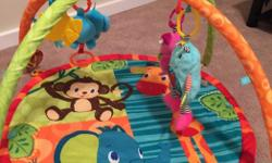 Pink play mat is $5 and the monkey play mat is $8. Only used for one child. Very good condition