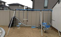 play structure for sale, good working condition. There is also a slide can be attached to the play structure, but the sitting area is broken, you can take it for free if you want.