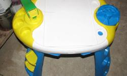 Kids playdough table asking $10 obo please look at other adds phone 780-766-3356 if interested