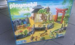 Complete Playmobil Asian Animal Enclosure. 1 or 4 parts of a complete Zoo. Excellent condition, very complete and includes original box. Retails for over $250. Also available: Playmobil Zoo ($85), Meerkats($20) and Ostrich( $20) enclosures. Buy all for