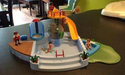 Playmobil Pool with Slide and Shower This can be filled with water for extra fun