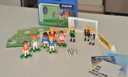 Playmobil Soccer set with lots of extra players