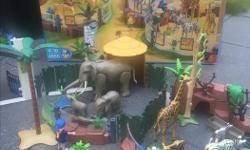 Complete Playmobil Zoo Enclosure. 1 or 4 parts of a complete Zoo. Excellent condition, very complete and includes original box. Retails for over $200. Also available: Playmobil Asian Animal ($90), Meerkats($20) and Ostrich ($20) enclosures. Buy all for