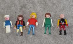 4 playmobile figures 1 unknown figure (with hat) $6 for the lot