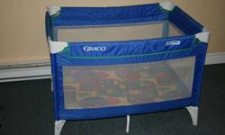Fold down play pen with bag, is in excellent condition.