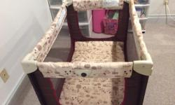 Portable playpen. Perfect for Grandma's house. Great shape no tears in netting