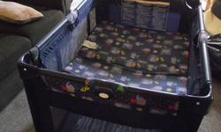 40.00 OBO Playpen with bassinette smoke free home great shape