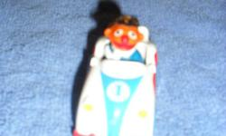 For the Playskool collector here is a 1983 Seasme Street Ernie riding in a metal race car. This item is in great played with  condition. Base of car is stamped with marker, year, etc. Asking $15.00 Resonable offers accepted. Must pick up. See pictures.