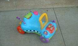 PLAYSKOOL LEARNING TOY RIDE OR PUSH GREAT TO LEARN TO WALK WITH FANTASTIC SHAPE