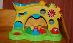 Fun toy for toddlers. Gears stack. Missing one ball