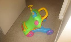 Still in excellent condition, my child absolutely loved this toy and it helped her learn how to walk. $15