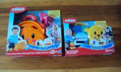 both brand new good for ages: 9 months and 18 months..20.00 for both Playskool Pop-Up Shape Sorter Kitty On-the-go toys for on-the-go families! Introducing Playskool toys that are designed to be storable, portable, and adorable - now you can bring