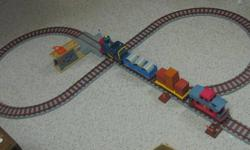 Railroad can be configured any way.  233-5995. Large train set.