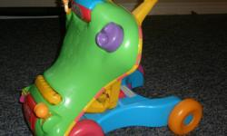 I have a just recently used playskool walk and grow. It Includes two toys in one! The sturdy, stable walker helps babies learn to stand and walk. Converts to baby's first ride-on toy, with a locking mechanism. I am very close to downtown guelph..if