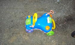 Can be used as a ride on toy or can be put upright to assist in walking.   Will remove ad when sold