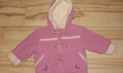 18-24 months Please Mum warm winter jacket is just like new!  Bought last winter and only worn a few times as she had a different snowsuit she wore.  Its in perfect condition just like new.  Non smoking and pet free home. Yes this is available if posted