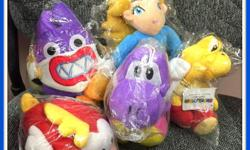 """Brand New Mario Character Plushes...you won't find these anywhere in the city and if you do (which I doubt), they'll be over $25 each...make your little one's Christmas a SUPER one :) Princess Rosalina is 9.5"""" - $10 Nabbit is 9"""" - $10 Purple Yoshi &"""