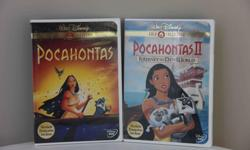 Set of 2 * Pocahontas * Pocahontas II - Journey to a New World Excellent condition - never handled by children.