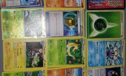 In every package there is ten cards. There are 3 types of packages: The mixed packages include 4 stage 1 cards + 3 basic cards + 2 Trainer cards + 1 or 2 stage 2 or high level basic cards, PLUS a bonus card + an energy card for 1.00$! The basic packages