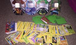 250 + cards. Includes quite a few rares and trainers. Only one or two energy cards. Also 4 holo cards. A small binder A bunch of card protectors 4 collector tins Mostly from black and white series. Some XY and some older No holds posted elsewhere
