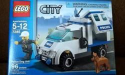 Lego:  Police Dog Unit  **Never Opened- in original packaging! 96 pieces Building Toy for ages 5-12yrs. Set includes: * Policeman * K-9 dog * Police Truck **Comes from a Pet-Free & Smoke-Free Home*