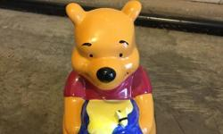 For salea pooh bear piggy bank. From a pet and smoke free home.