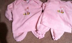 Nice and warm for winter. 12 month pooh pjs. $3.00 EUC comes from smoke and pet free home. Also have super cute outfit for sale with purple leggings. 12 months too. $6.00 This ad was posted with the Kijiji Classifieds app.