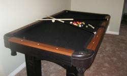 "Brand New 3'6"" X 6' Pool Table / Tennis Table Includes Cues, Balls, Rack, Table Brush Table Tennis Board, Net, Paddles and Balls   Must sell, need room for renovations."
